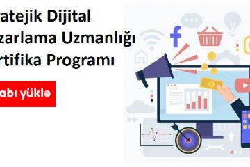 """""""Stratejik Dijital Pazarlama Uzmanlığı Sertifika Programı""""kitabını pulsuz yüklə"""