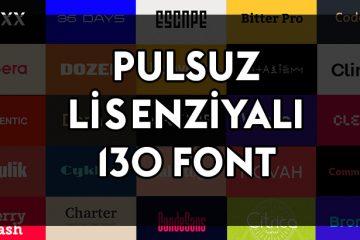 Mükəmməl Loqo Üçün PULSUZ 130 Font Yüklə
