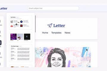 Letter – onlayn e-poçt bülleten dizayn redaktoru