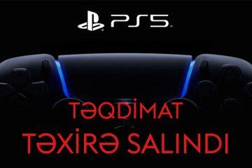 Playstation5 təqdimat tarixi təxirə salındı