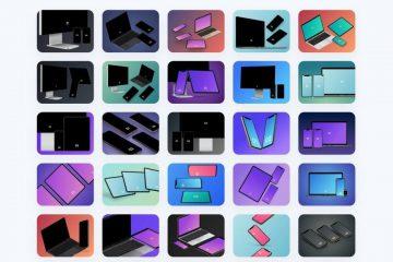Angle – Müxtəlif pozisyalı 1900 vektorlu 3D mockup-lar