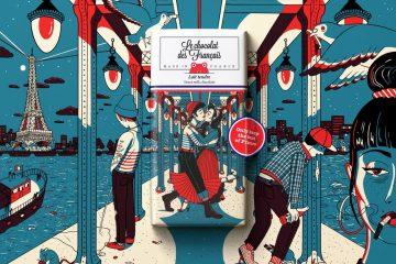 Fransanın şokalad markası Le Chocolat des Français-dən illustrasiyalı qablaşdırma dizaynları